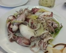 Steamed Calamary