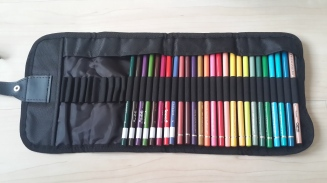 Colored pencil case - opened