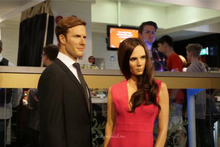 Wax of David Beckham and Victoria