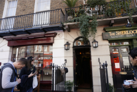 Entrance to Sherlock Holmes Museum