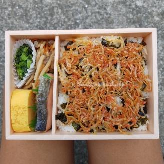 Inside bento box