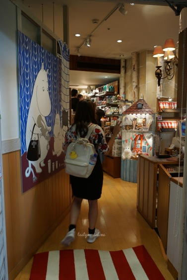 Entrance to Moomin Cafe