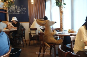 Interior of Moomin Cafe