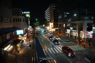 Night street view of Fukuoka