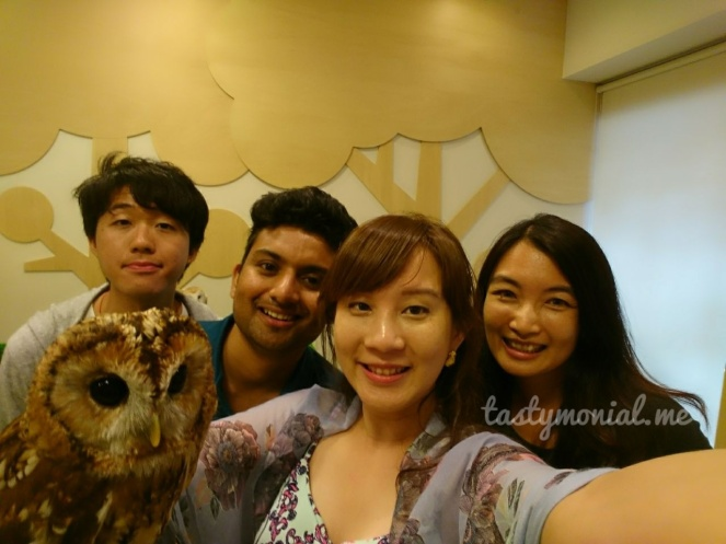Us, our new friends and an owl