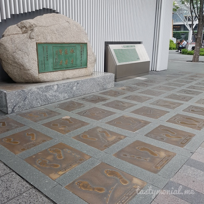 Foot prints in front of Hakata Station