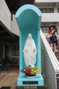 Lady Mary statue Daimyo Catholic Church Fukuoka