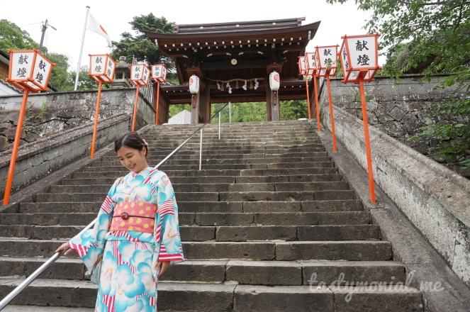 Me with Kimono at Sofukuji Temple