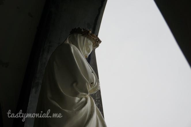 Saint Mary statue at Oura Catholic Church