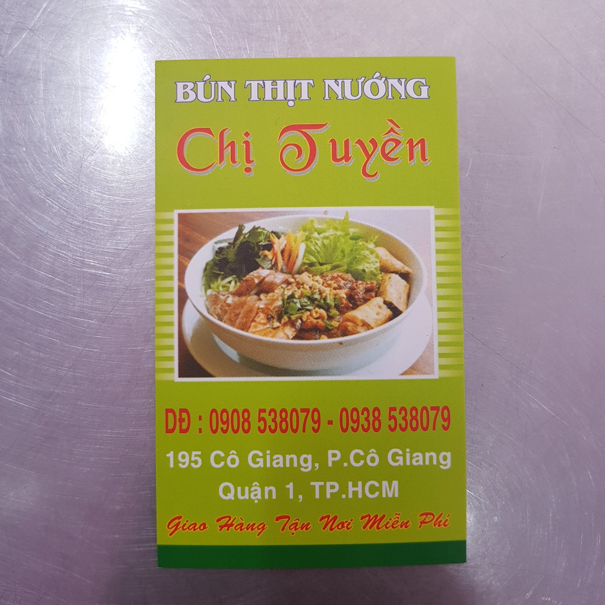 Bun Thit Nuong address