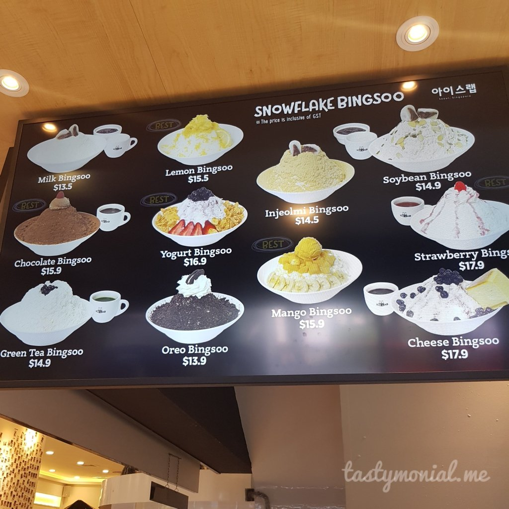 Snowflake bingsoo Ice Lab Singapore