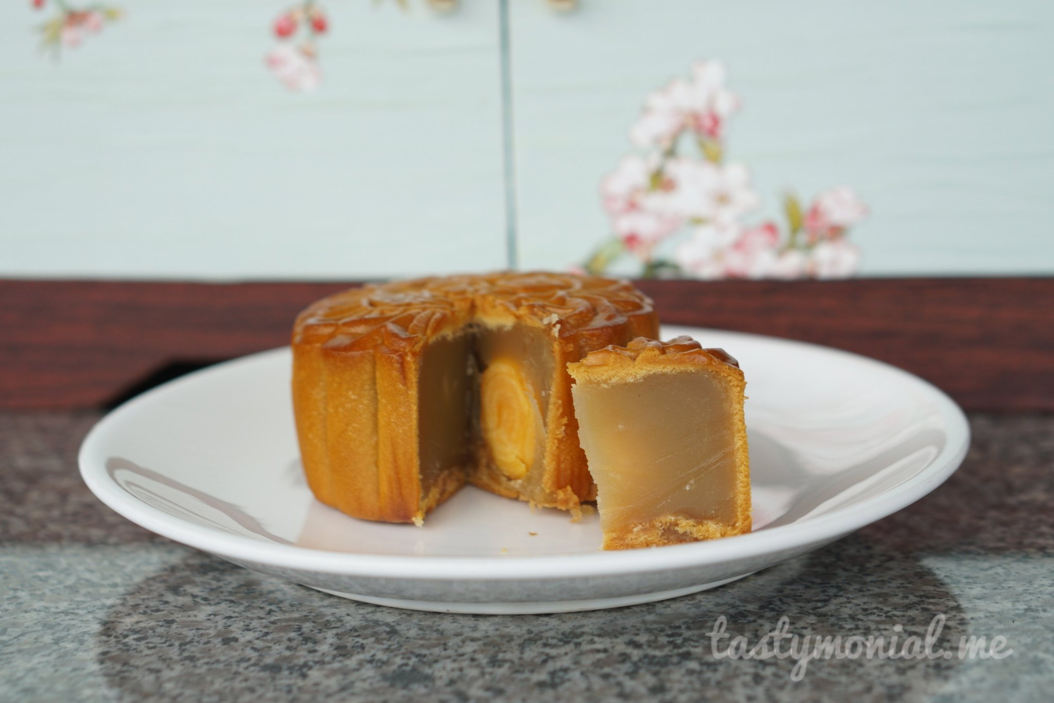Low Sugar Silver Lotus Paste with double yolk mooncake