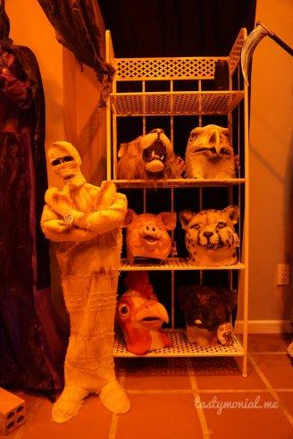 mummy puppet with motion sensor, masks