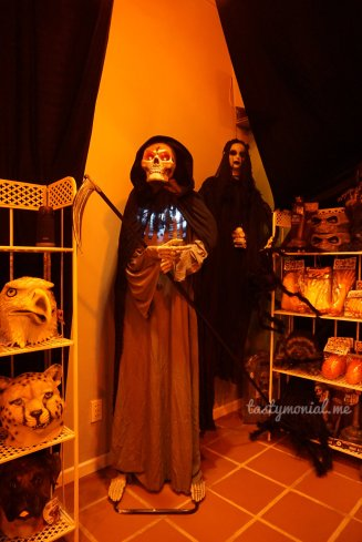 grim reaper puppet with motion sensor