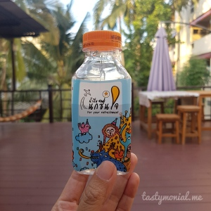 Nok Air small water bottle complimentary
