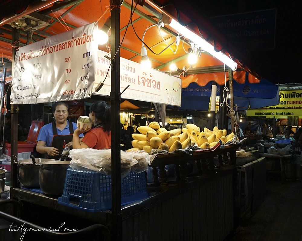 Best Mango Sticky Rice Chang Phueak Food Market Chiang Mai