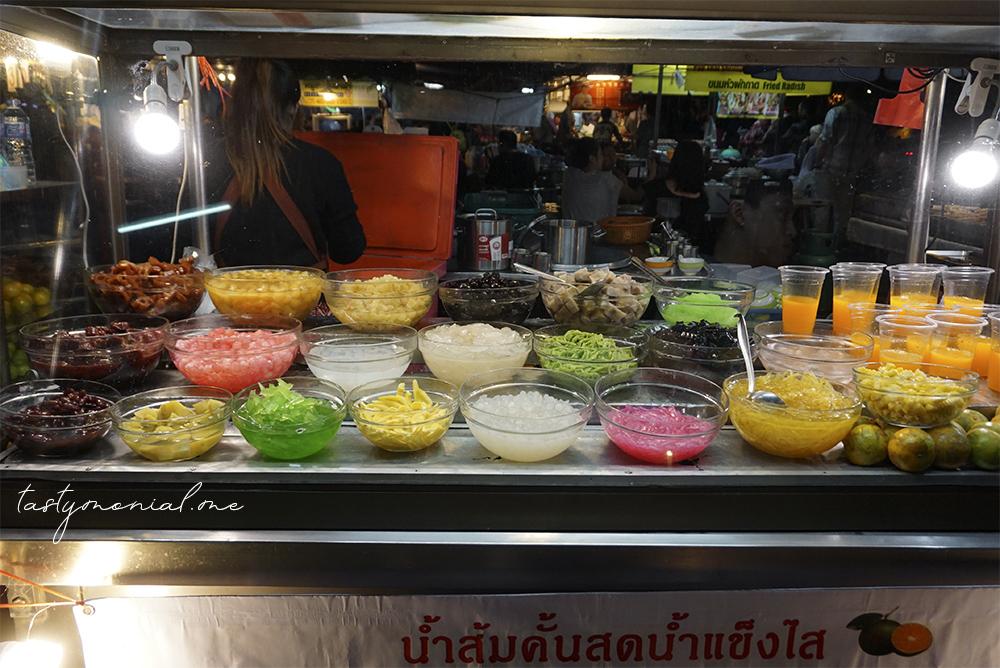 Dessert Stall Chang Phueak Food Market Chiang Mai