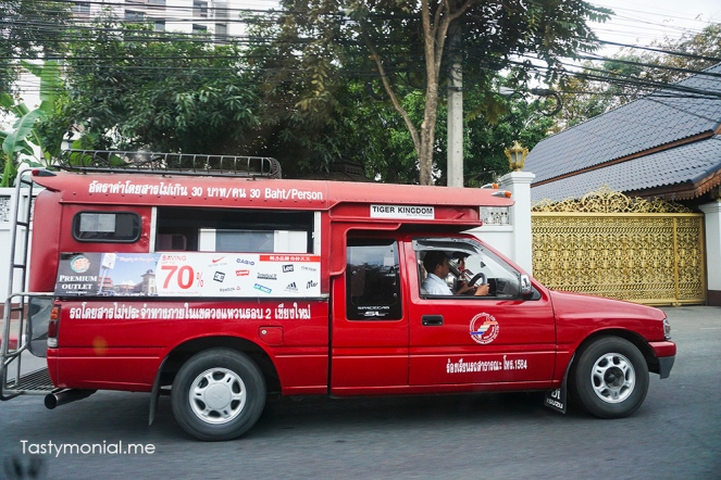 red car taxi chiang mai