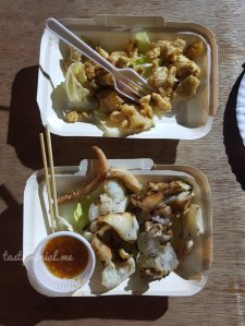 Grilled Squid Egg & Grilled Squid
