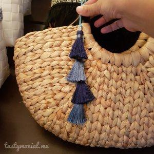 Rattan Plait Bag with Tassel