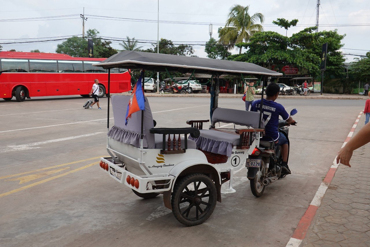 Mr Bun Rong and his tuktuk