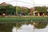 Siem Reap City Cambodia children playing football