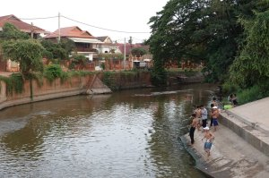 Siem Reap City Cambodia people fishing activity