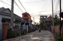 Siem Reap City Cambodia Small Street