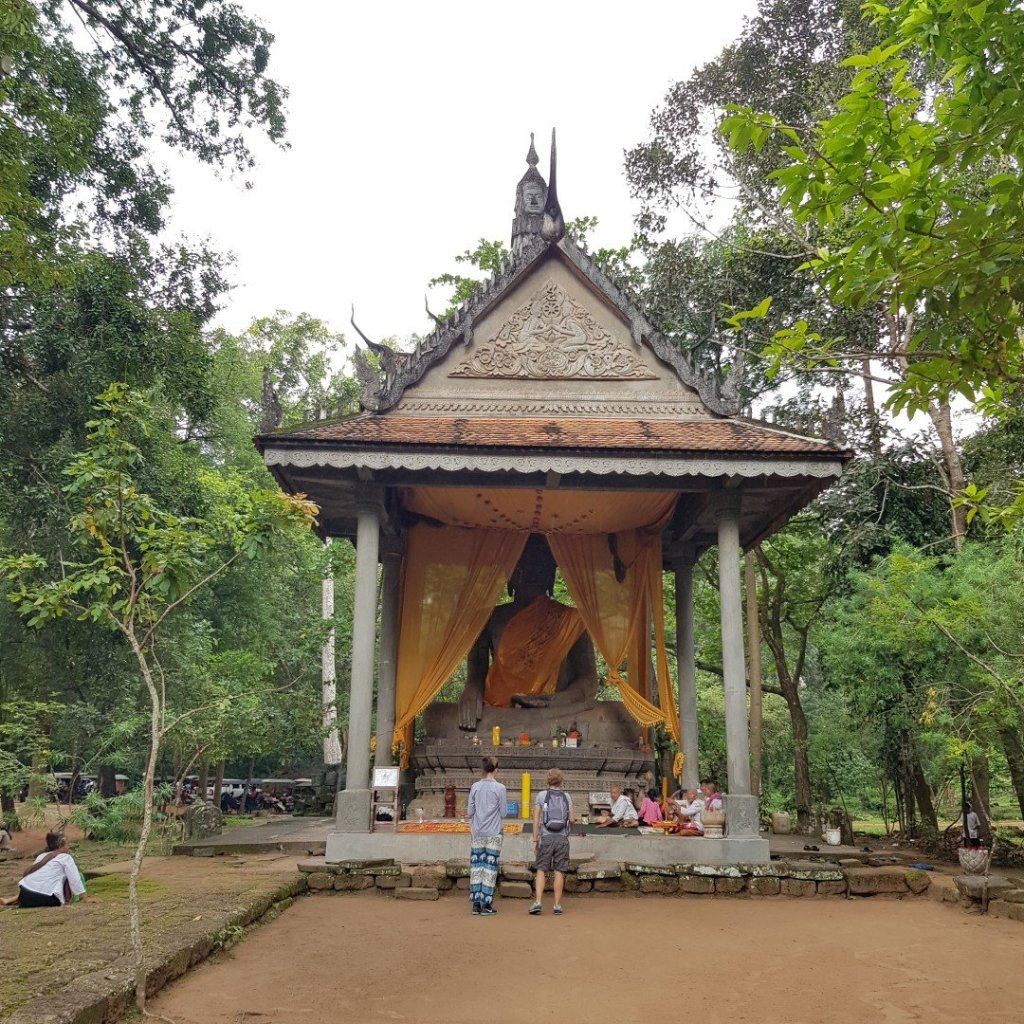 Giant Buddha Statue Bayon Temple Angkor Thom