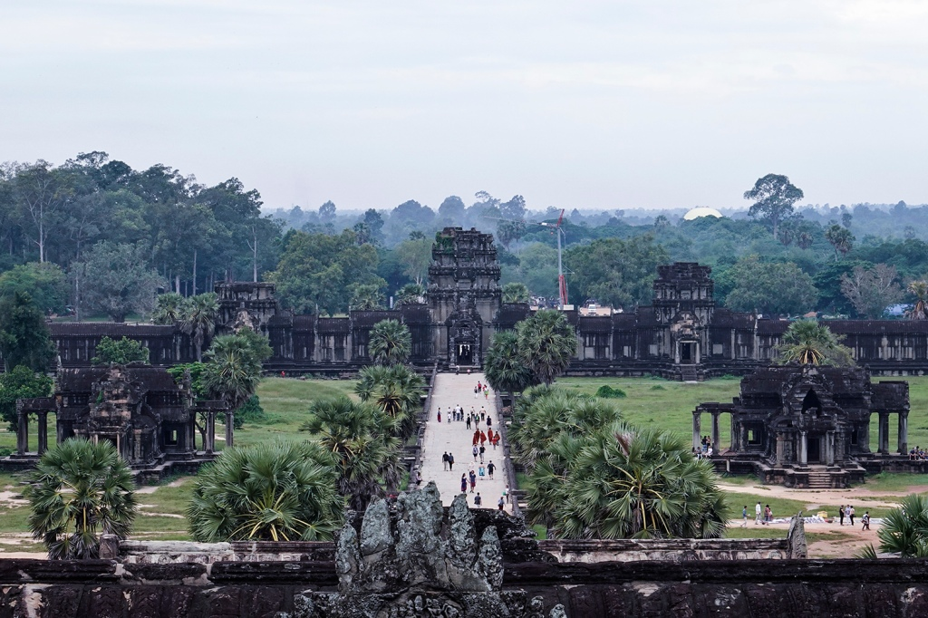 View from the tallest tower in Angkor Wat