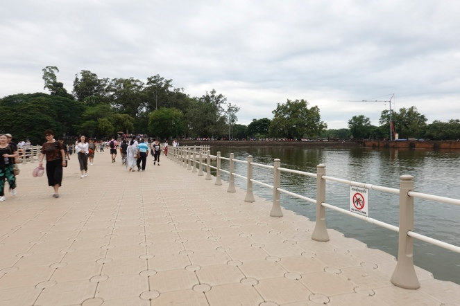 The bridge to enter and leave Angkor Wat area