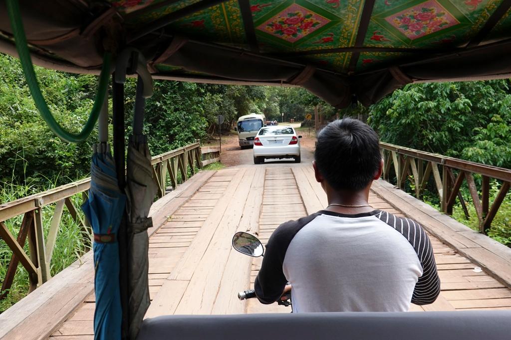 Remorge ride driver Angkor Cambodia