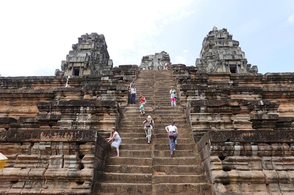 Ta Keo Stairs Steep Angkor Cambodia