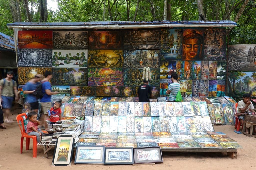 Souvenir Shop Angkor Cambodia