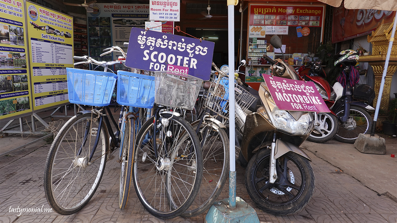 Rental shop for bicycle and motorbike in Siem Reap