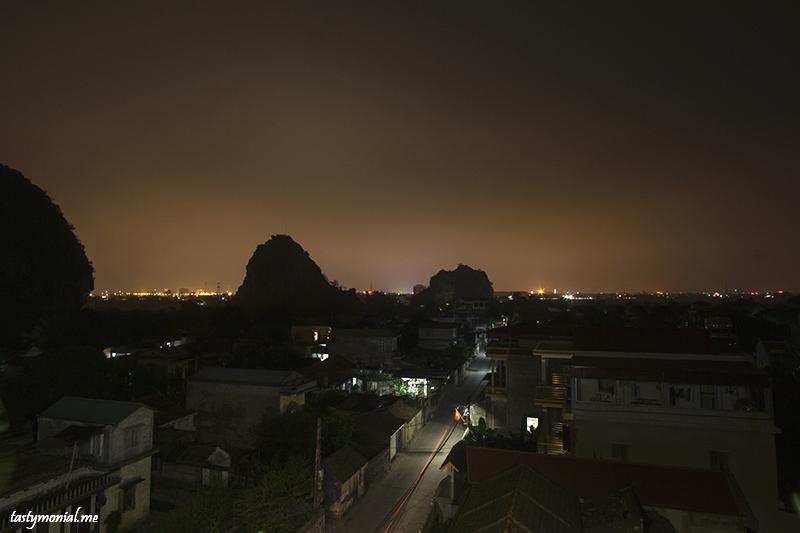 Night sky line of Ninh Binh Village
