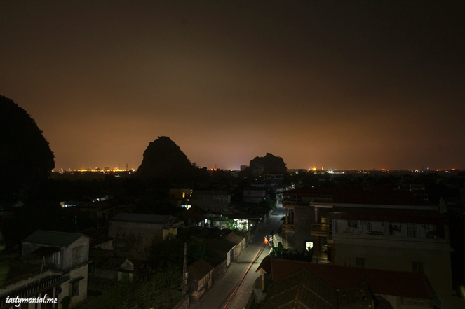 Night sky line of Ninh Binh Village