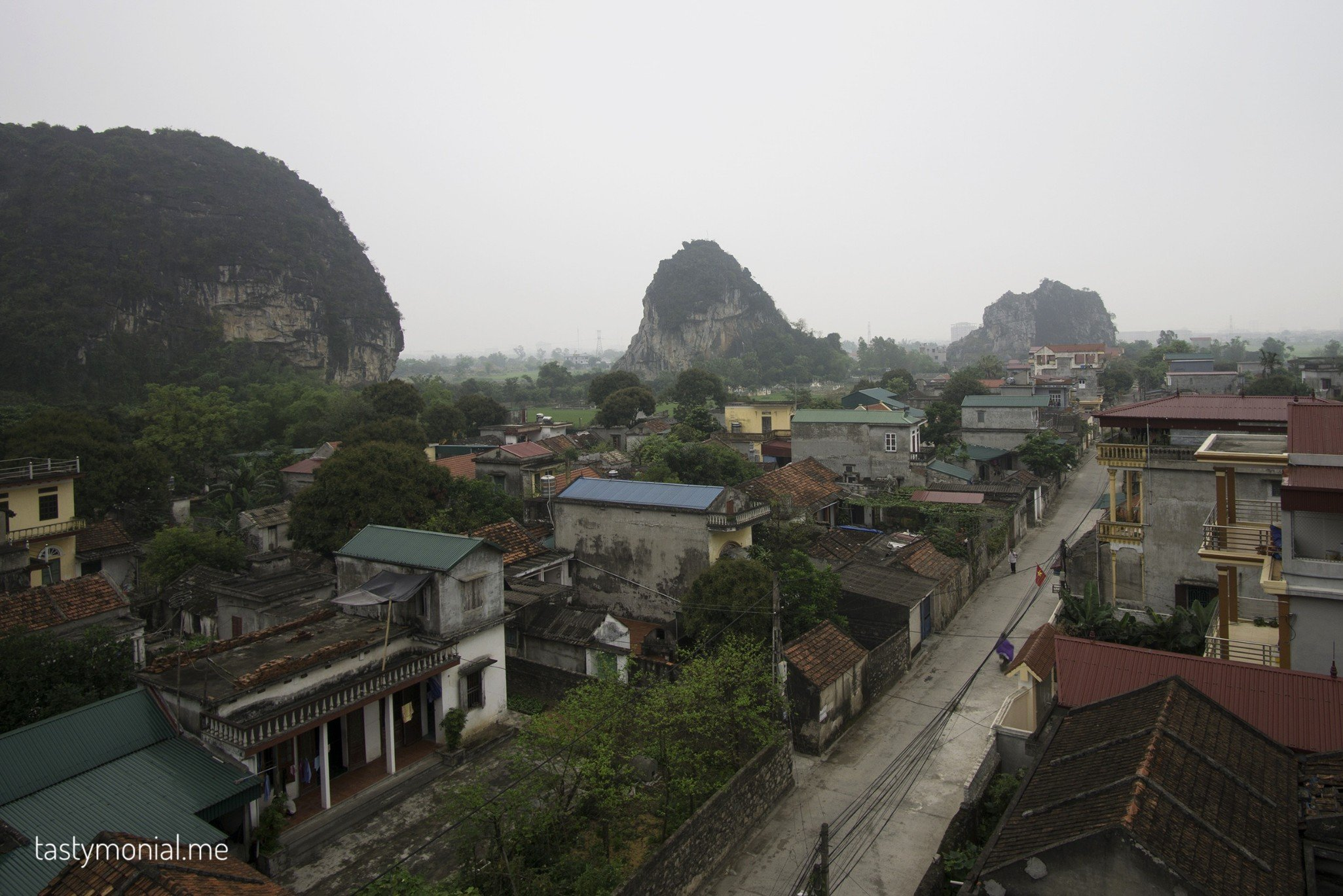 morning view from our hotel ninh binh vietnam