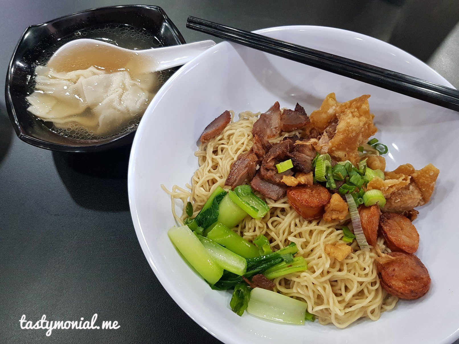 Signature wonton noodle soi 19 thai wonton mee